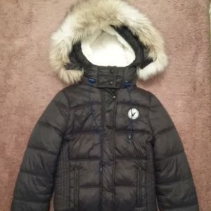 American Eagle Outfitters Puffer Fur Parka Coat